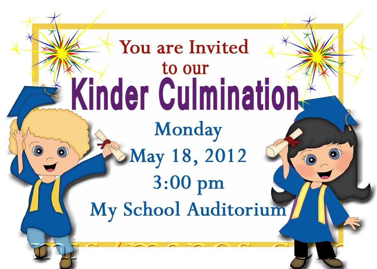 Free Printable Kindergarten Graduation Announcements