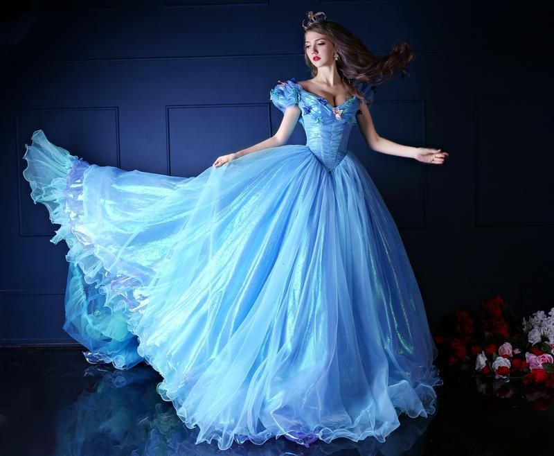 Novel Style Sky Blue Cinderella Quinceanera Dresses With