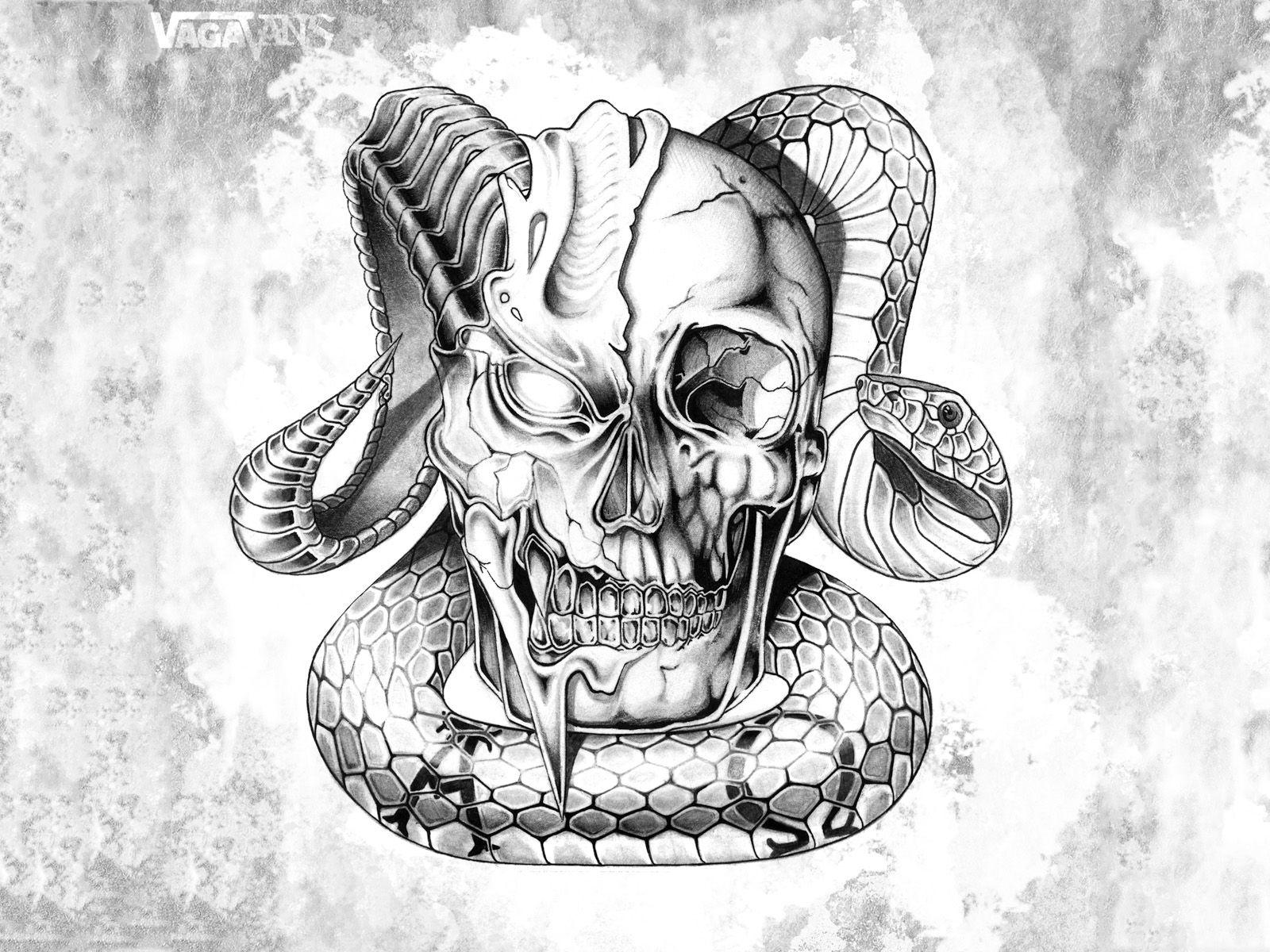 SkullSnakeTattoo.jpg (1600×1200) Tattoo Ideas