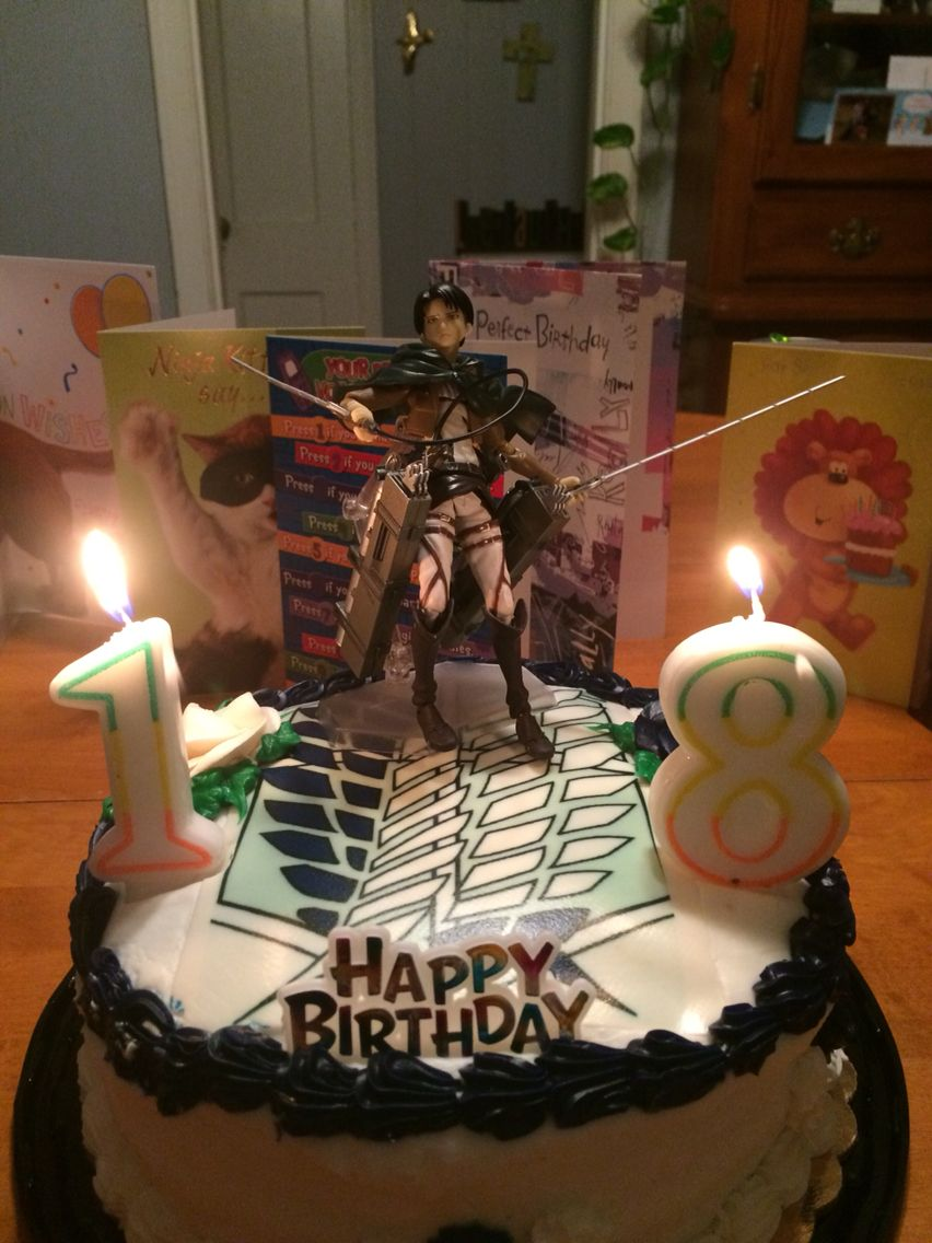 Attack on Titan birthday cake Attack on Titan