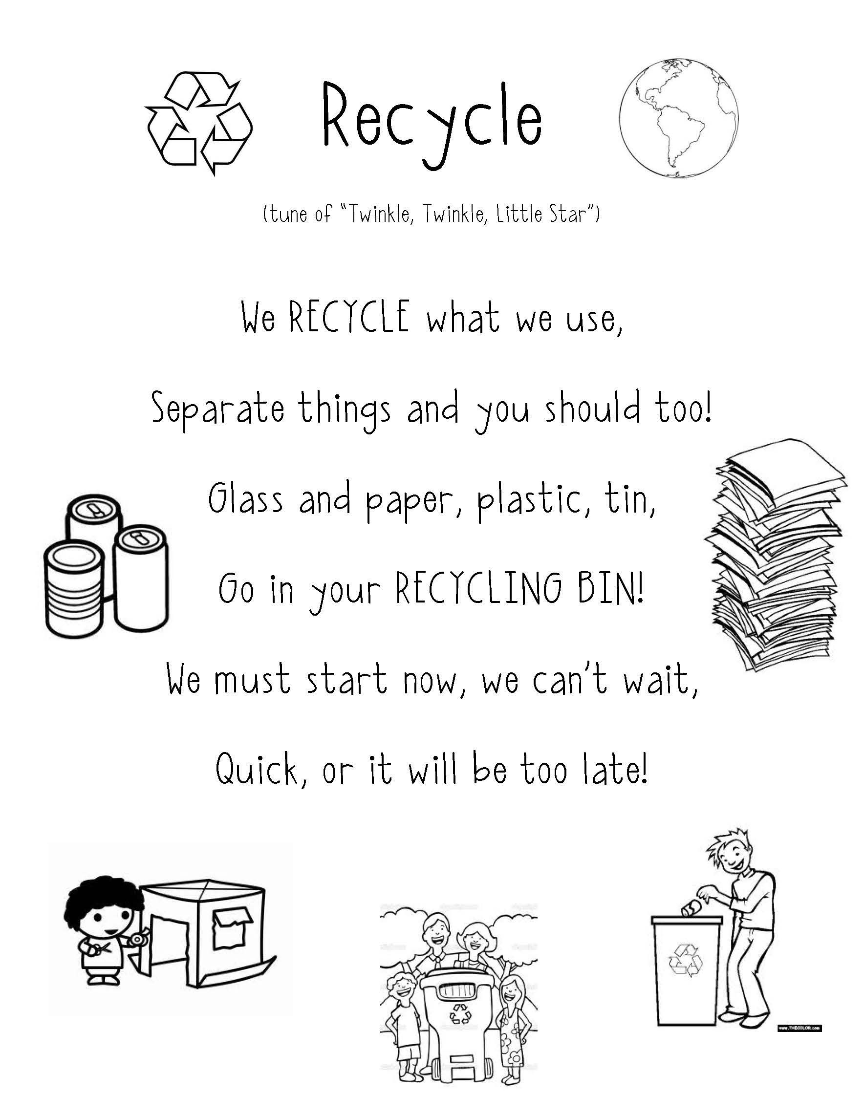 Poems And Songs For The Reduce Reuse Recycle Unit