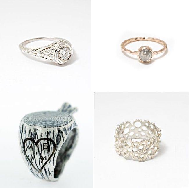 Very Unique Wedding Ring Set On Pinterest Unique
