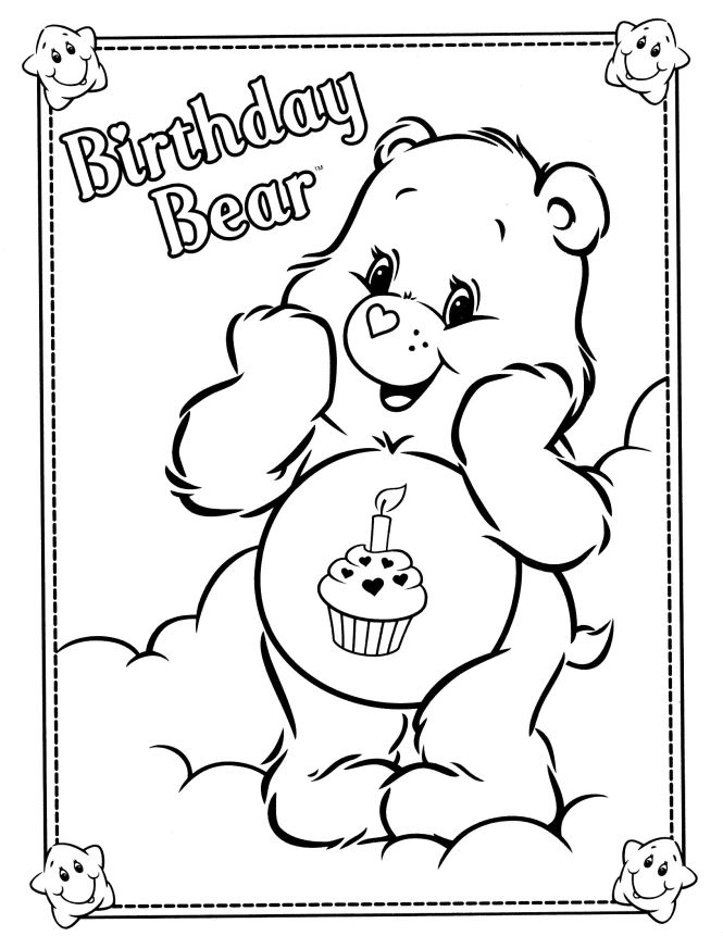 Care Bears Coloring Page More