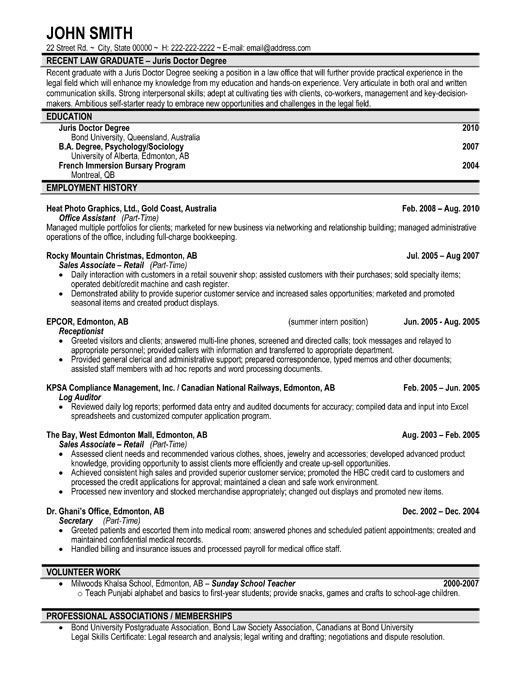college sutdent resume sample college grad resume examples and - New Grad Resume Template