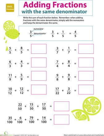 Introducing Fractions Adding Fractions Adding fractions