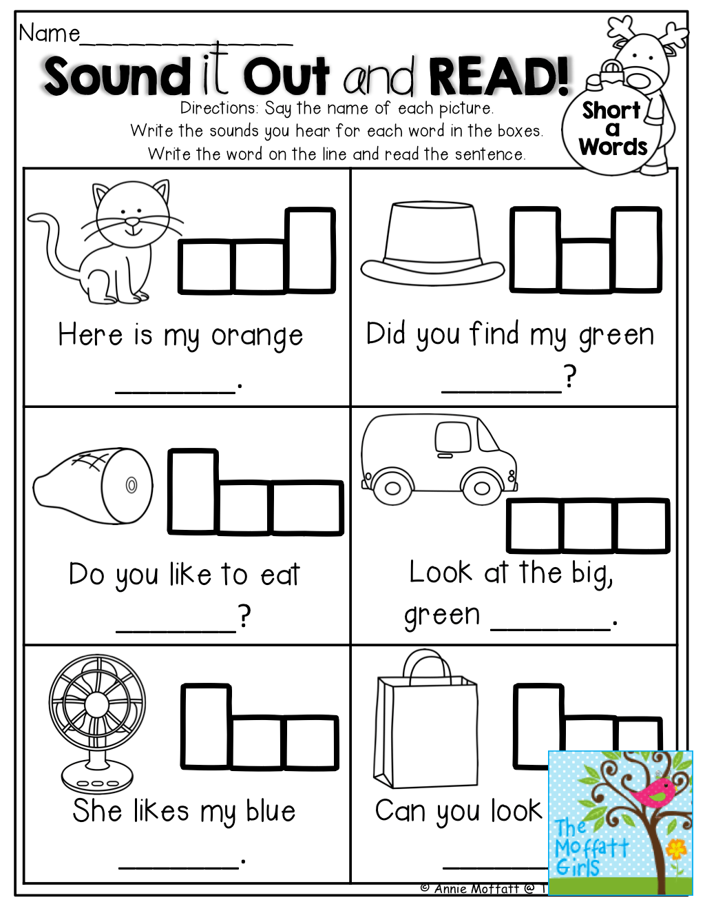 See Say Write And Read Printables