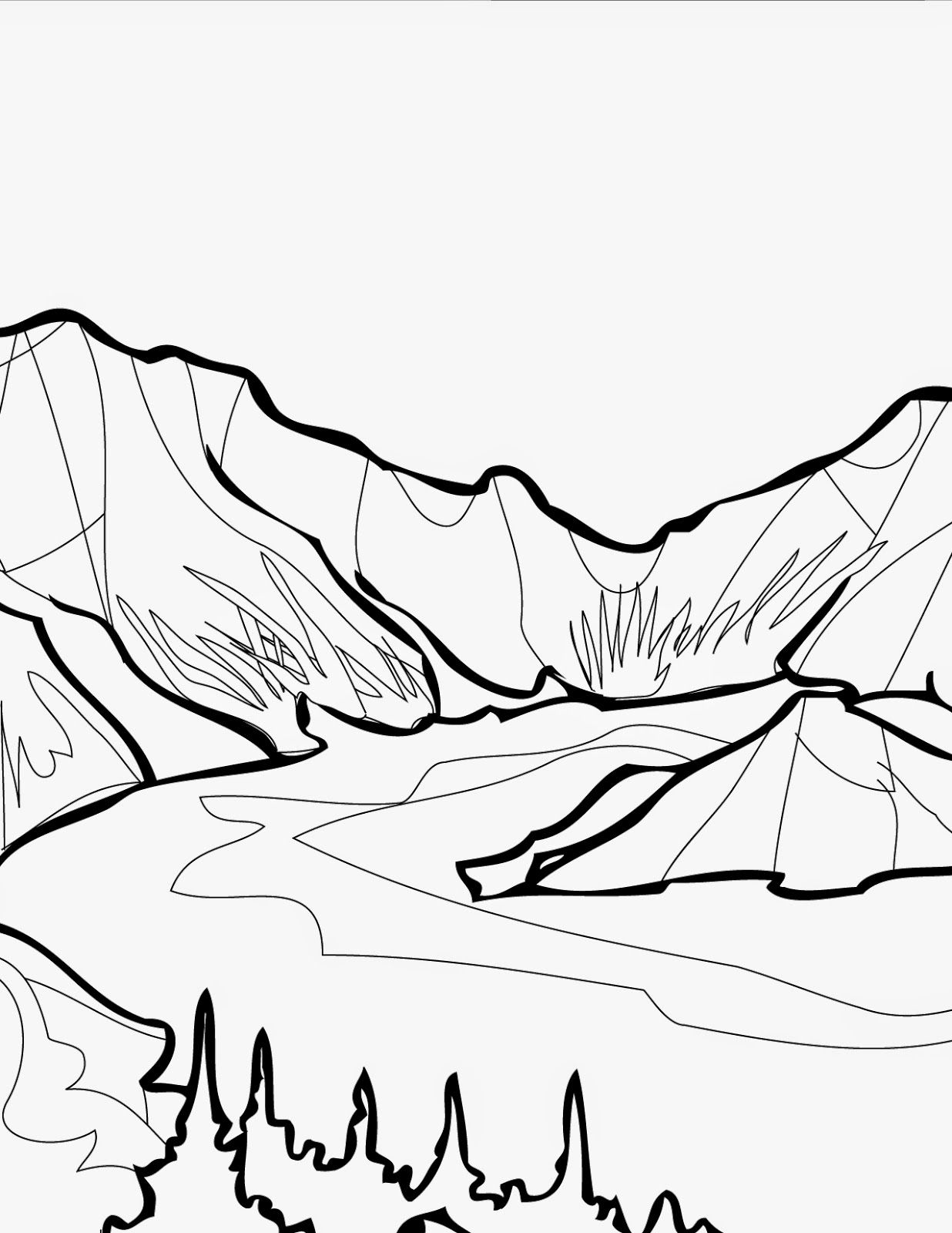 Free Coloring Pages National Parks