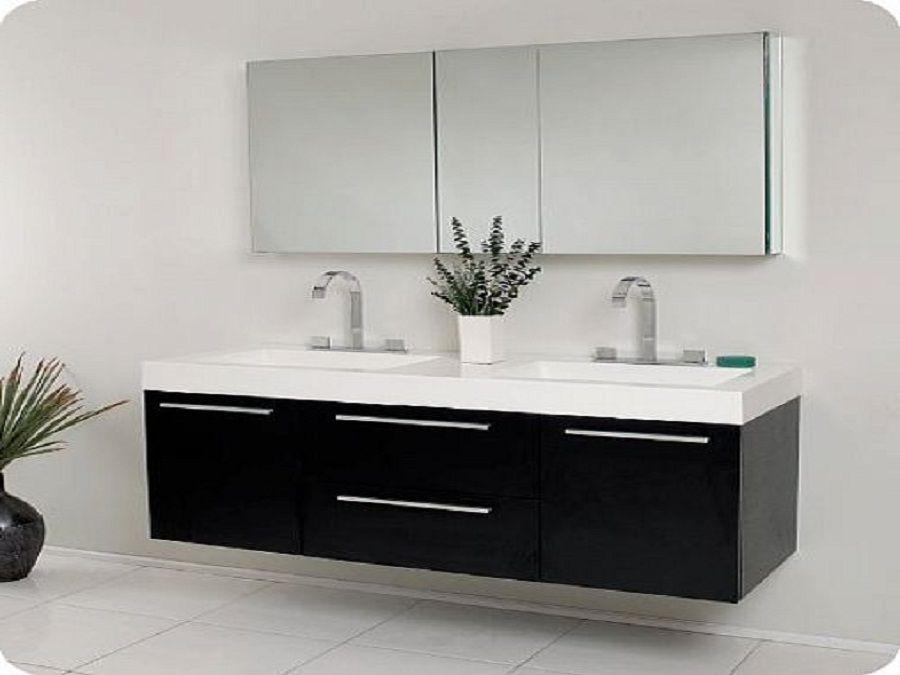 Enjoy with Exclusive Bathroom Sink Cabinets: Black Modern ...