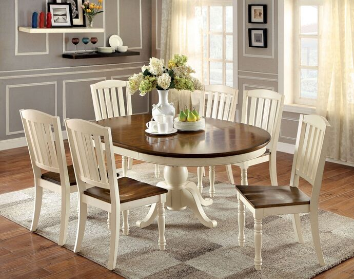 7 Pc Harrisburg Collection Country Style Oval / Round Two