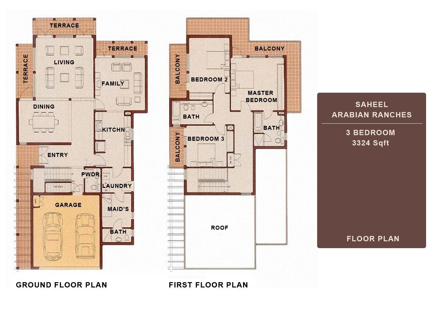 Dubai Floor Plans