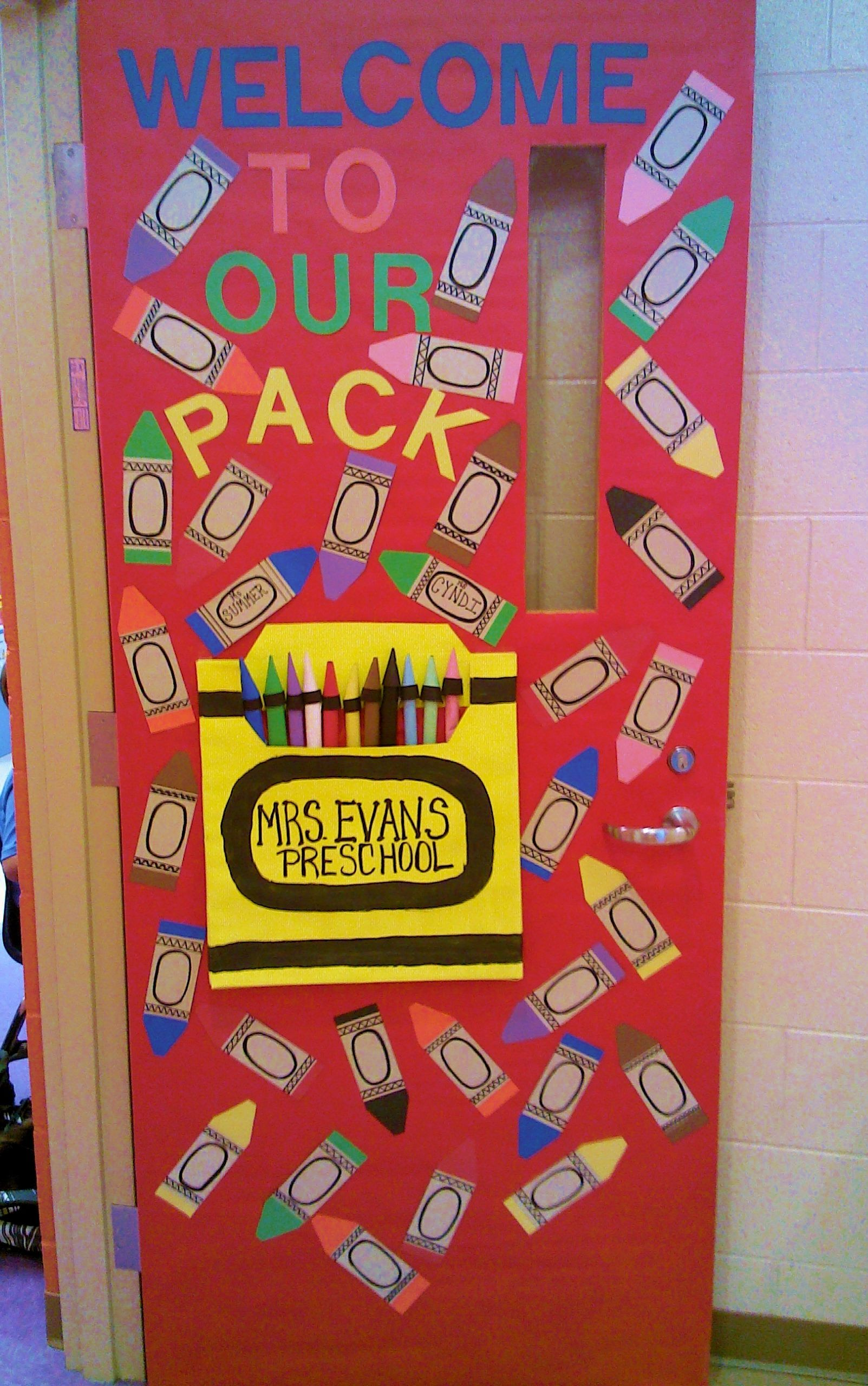 Our Door At The Beginning Of School To Welcome Our