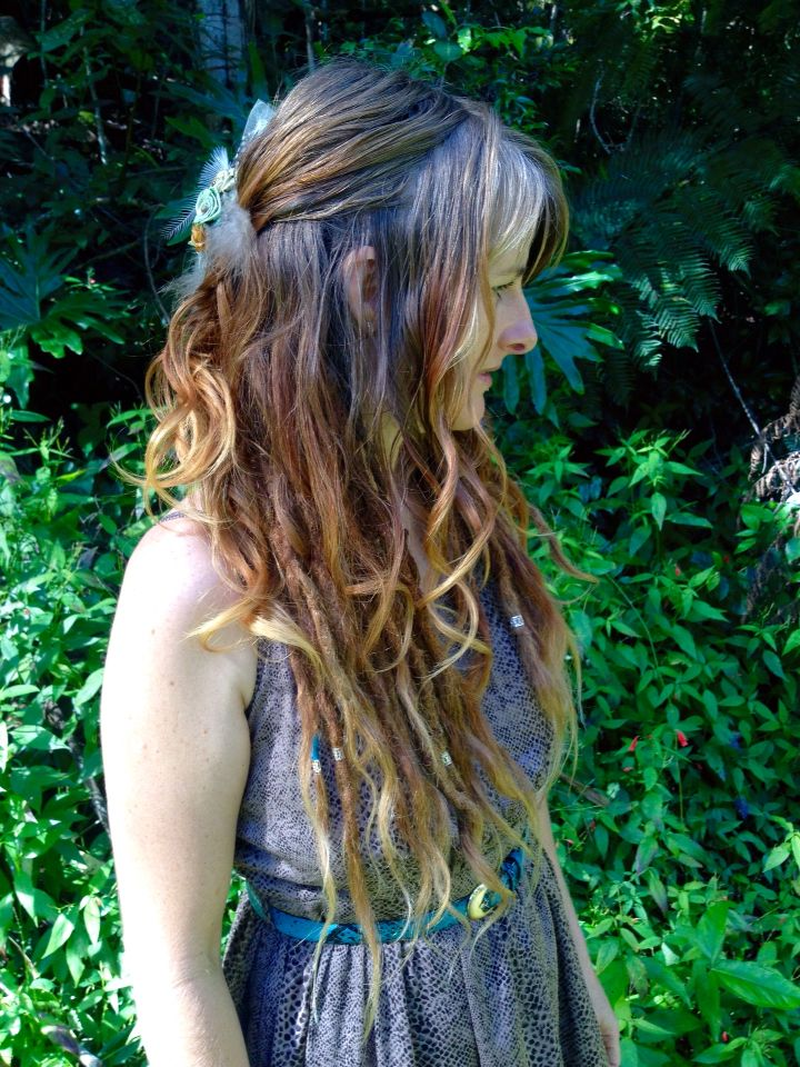 Loose Curls And Dreads Underneath Love This Combination