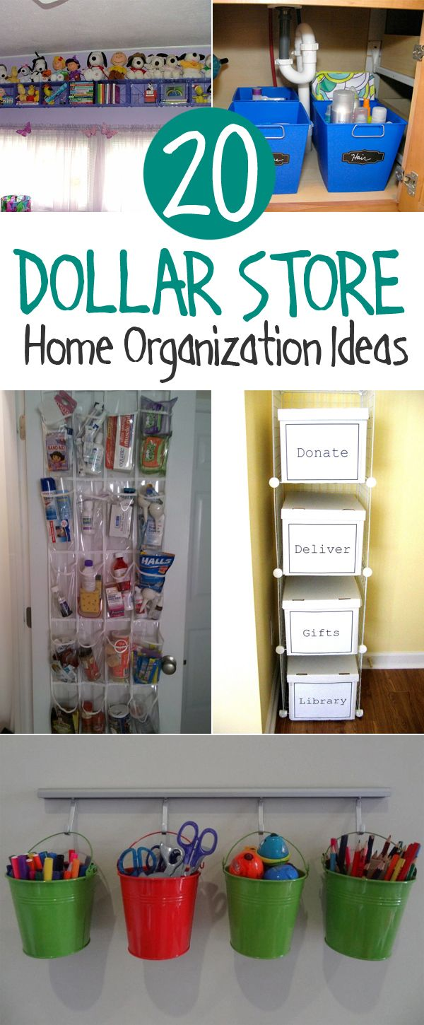 20 Clever Dollar Store Organization Ideas Crafts, Home