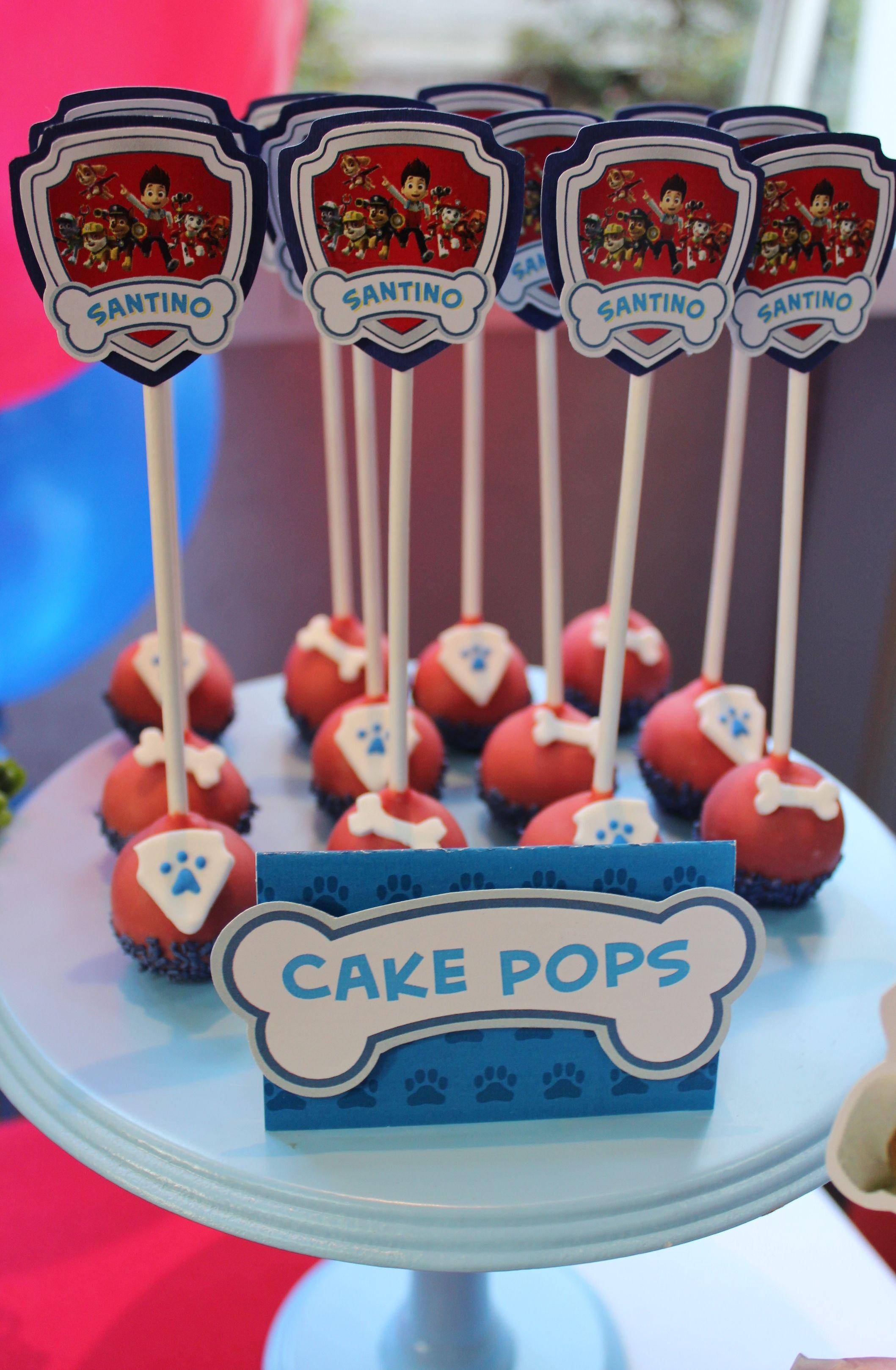 Paw Patrol Cake Pops Violeta Glace