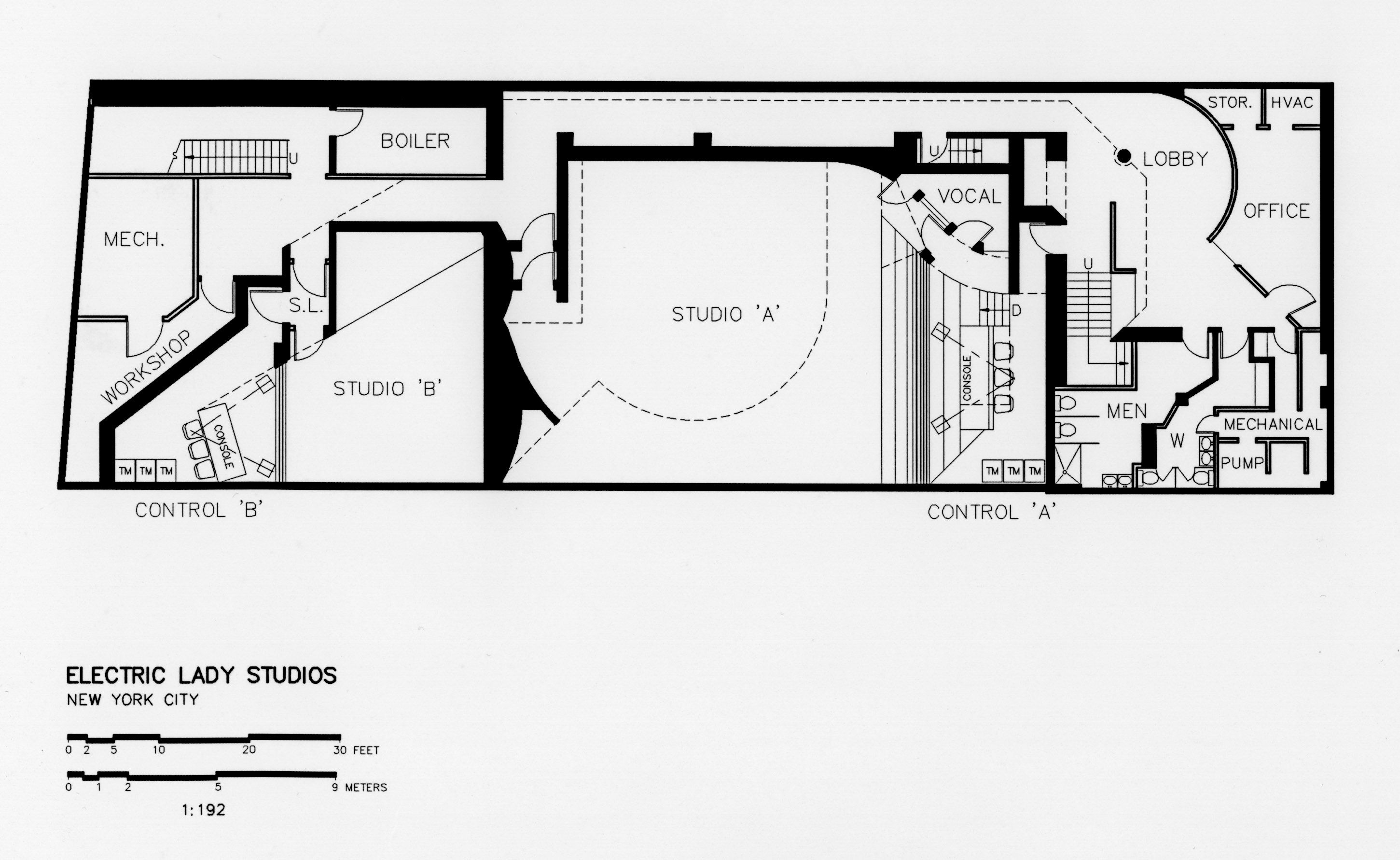 Basement Floor Plan Electric Lady Studios New York