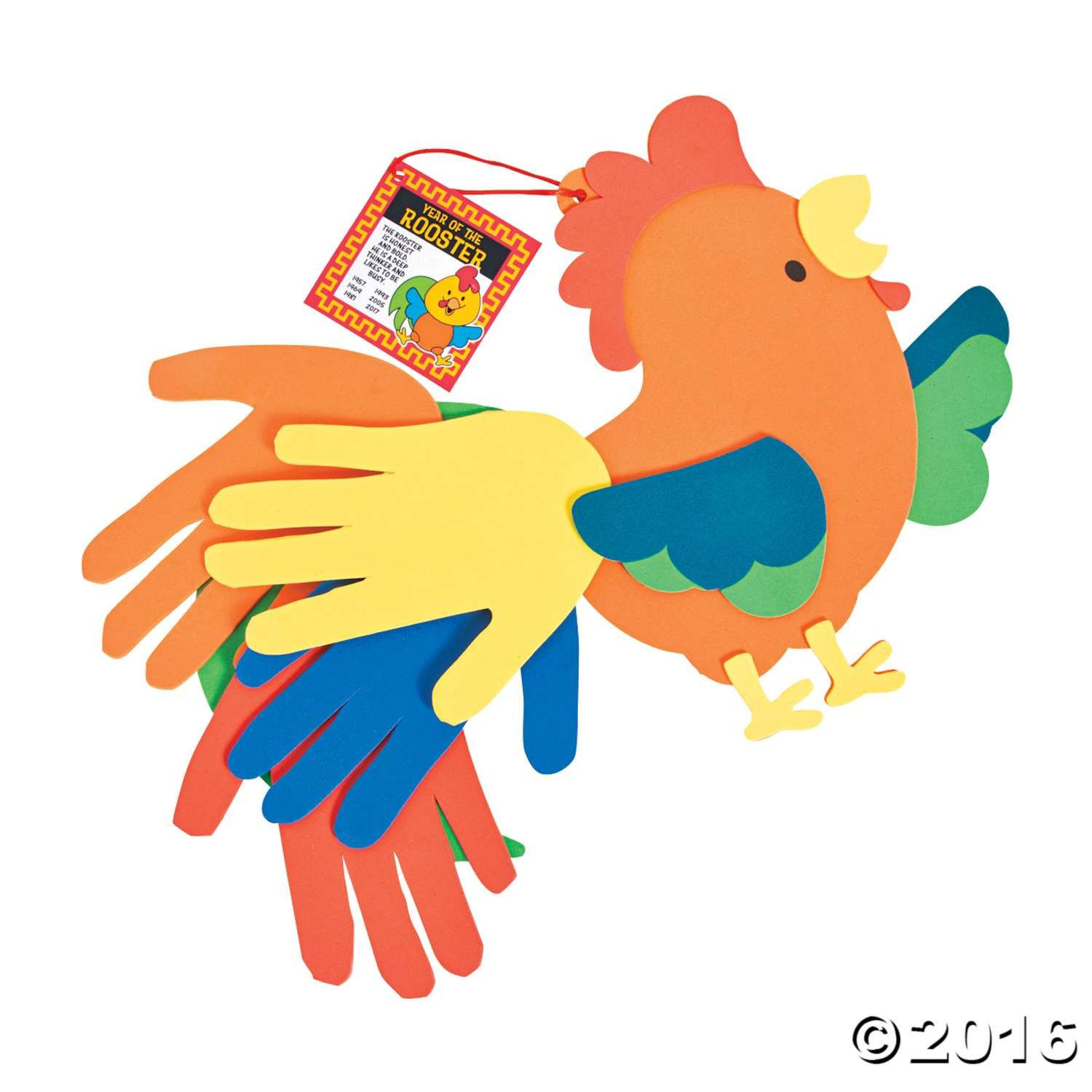 Celebrate The Year Of The Rooster With This Fun Craft For
