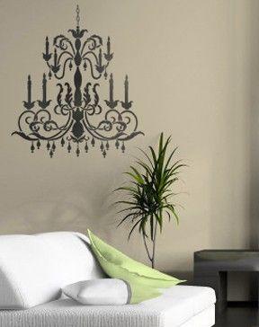 Reusable Stencil Large Chandelier Wall By Cuttingedgestencils