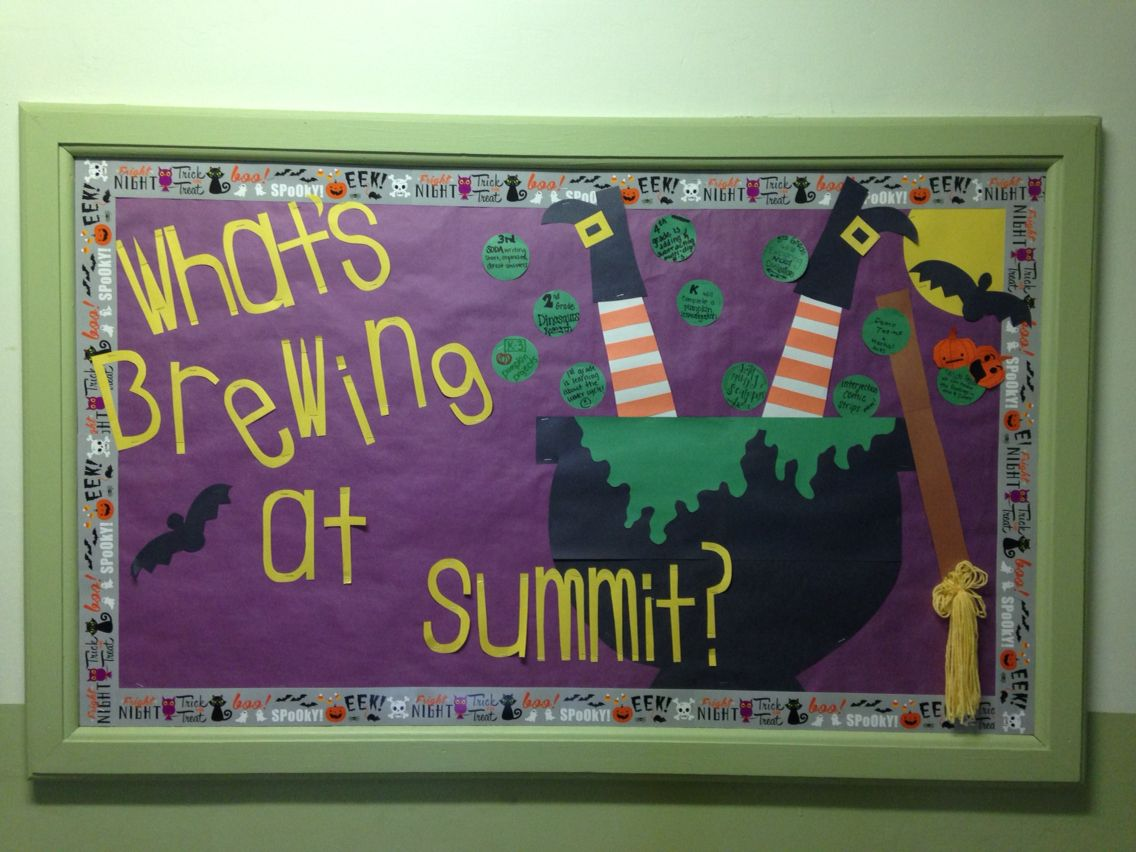 What S Brewing Halloween Witch Bulletin Board