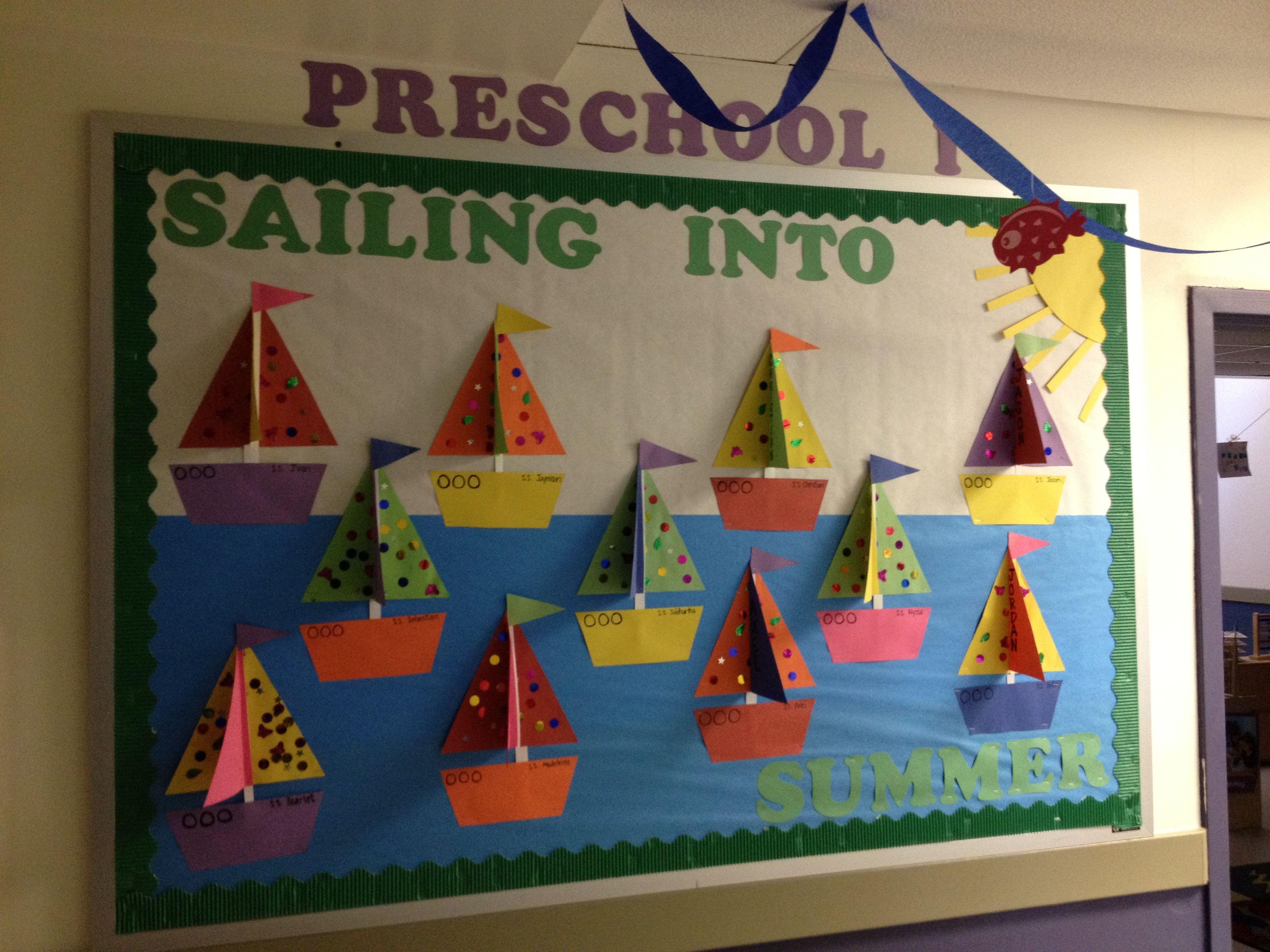 Preschool Sailboats Ocean Summer Theme