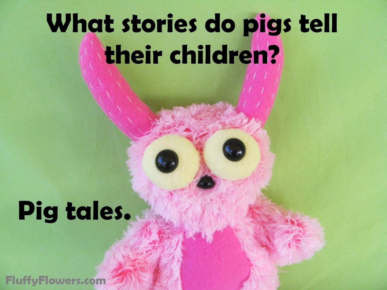 cute & clean pig kids joke for children featuring an