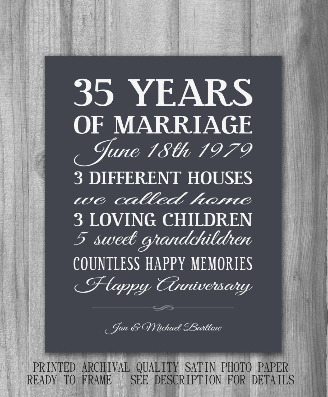 Personalized Anniversary Gift Important Dates Unique