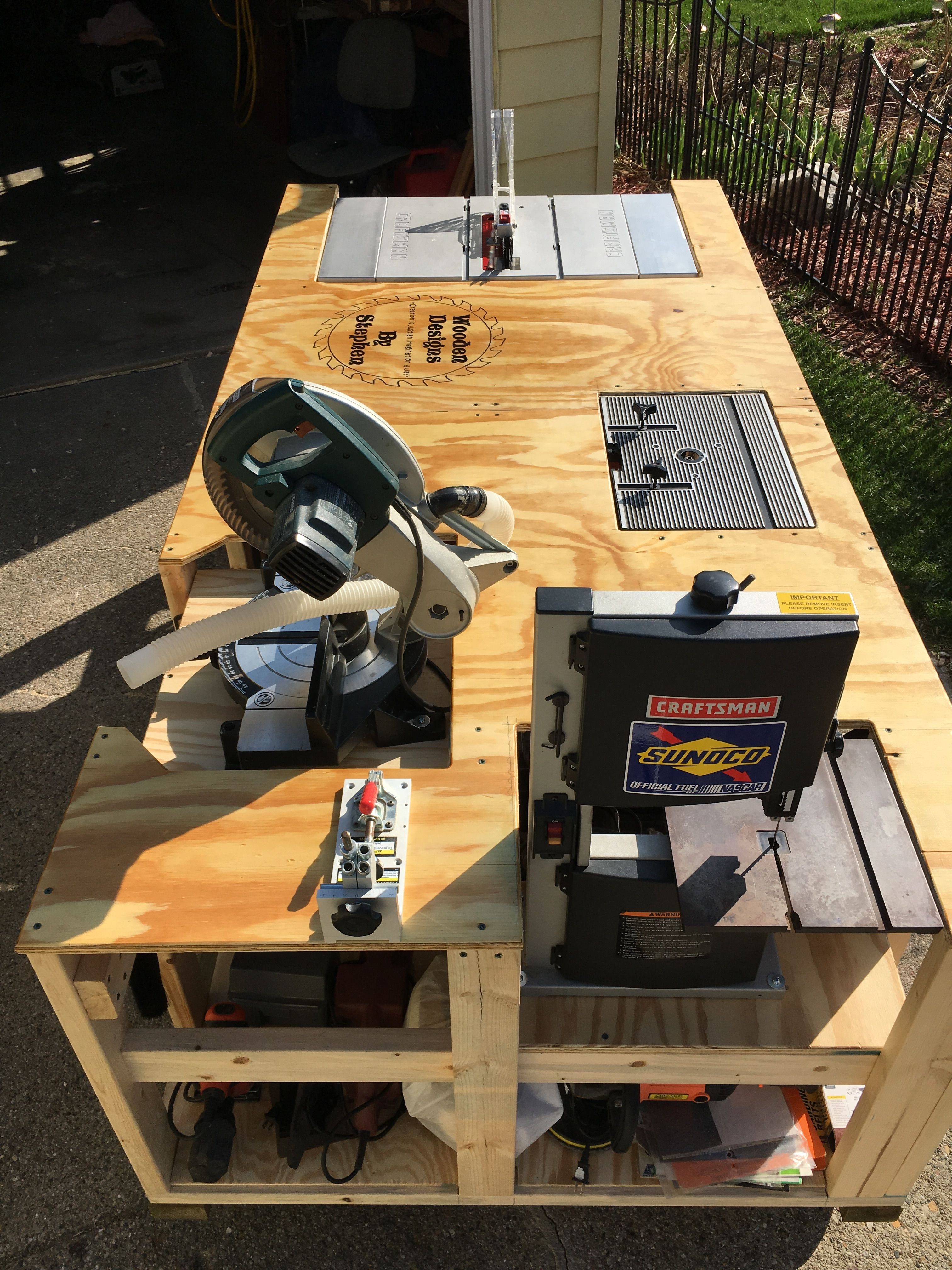 """""""Mega Ultimate Workbench"""". I wanted to save space in my"""