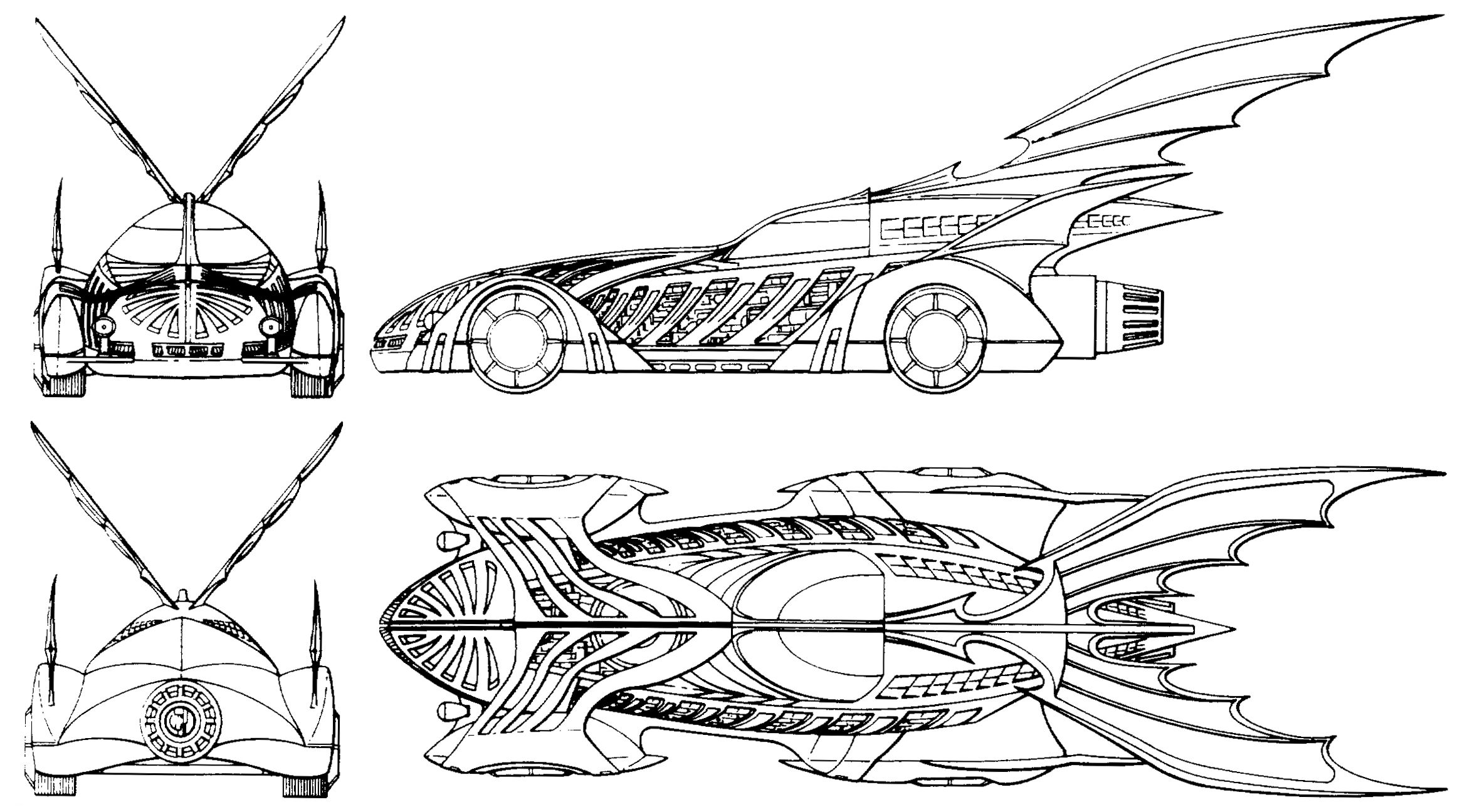 Joel Schumacher S Batmobile Blueprint