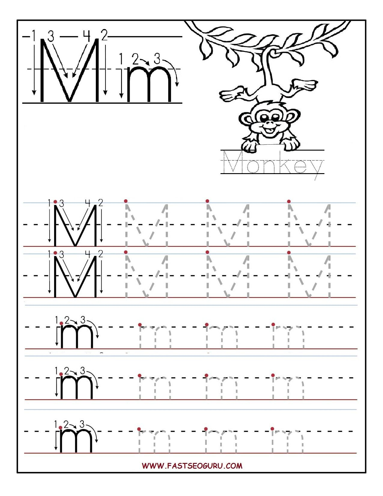 Preschool Letter E Tracing Worksheet Free