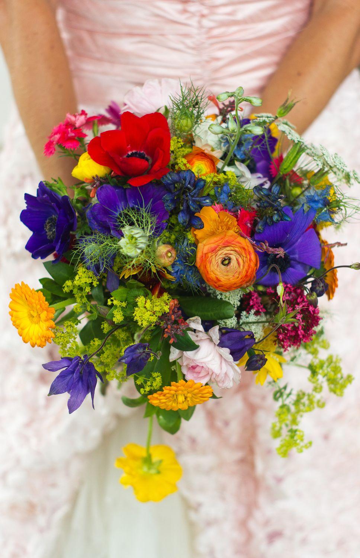 Wildflower wedding bouquet by Donna Walker Design. http