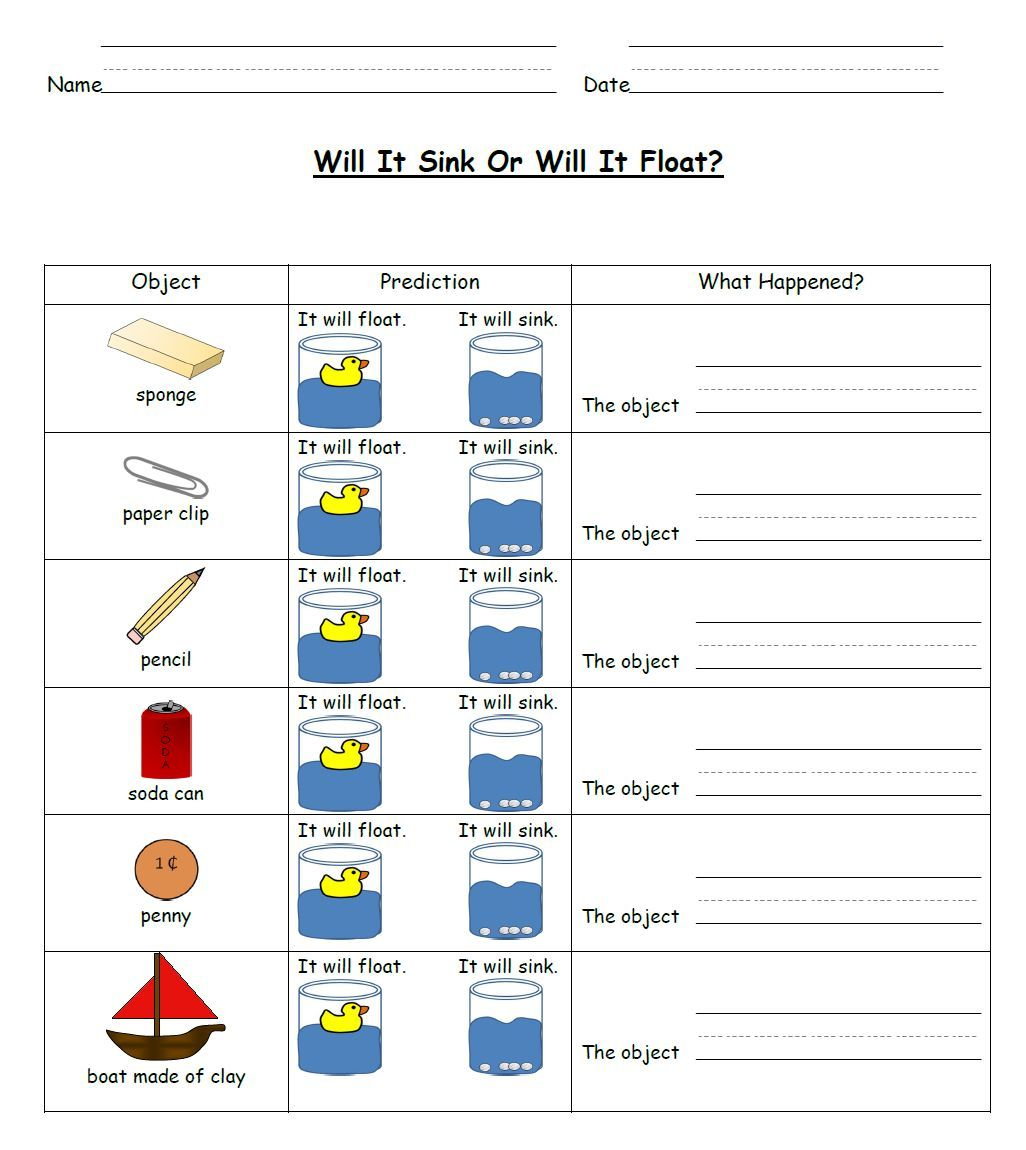 Sink And Float Science Activities
