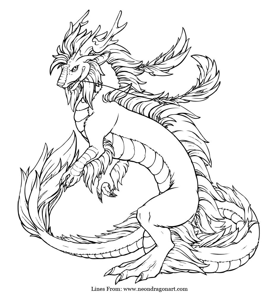 Imperial dragon coloring page Art Tips Pinterest