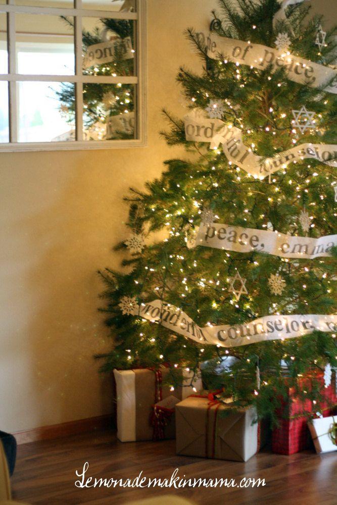 Names of God Christmas Tree Garland 6 yard roll. 35.00