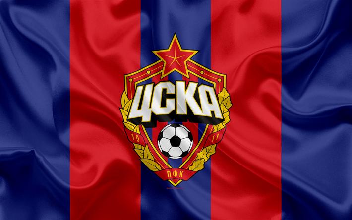Download wallpapers PFC CSKA Moscow, 4k, Russian football