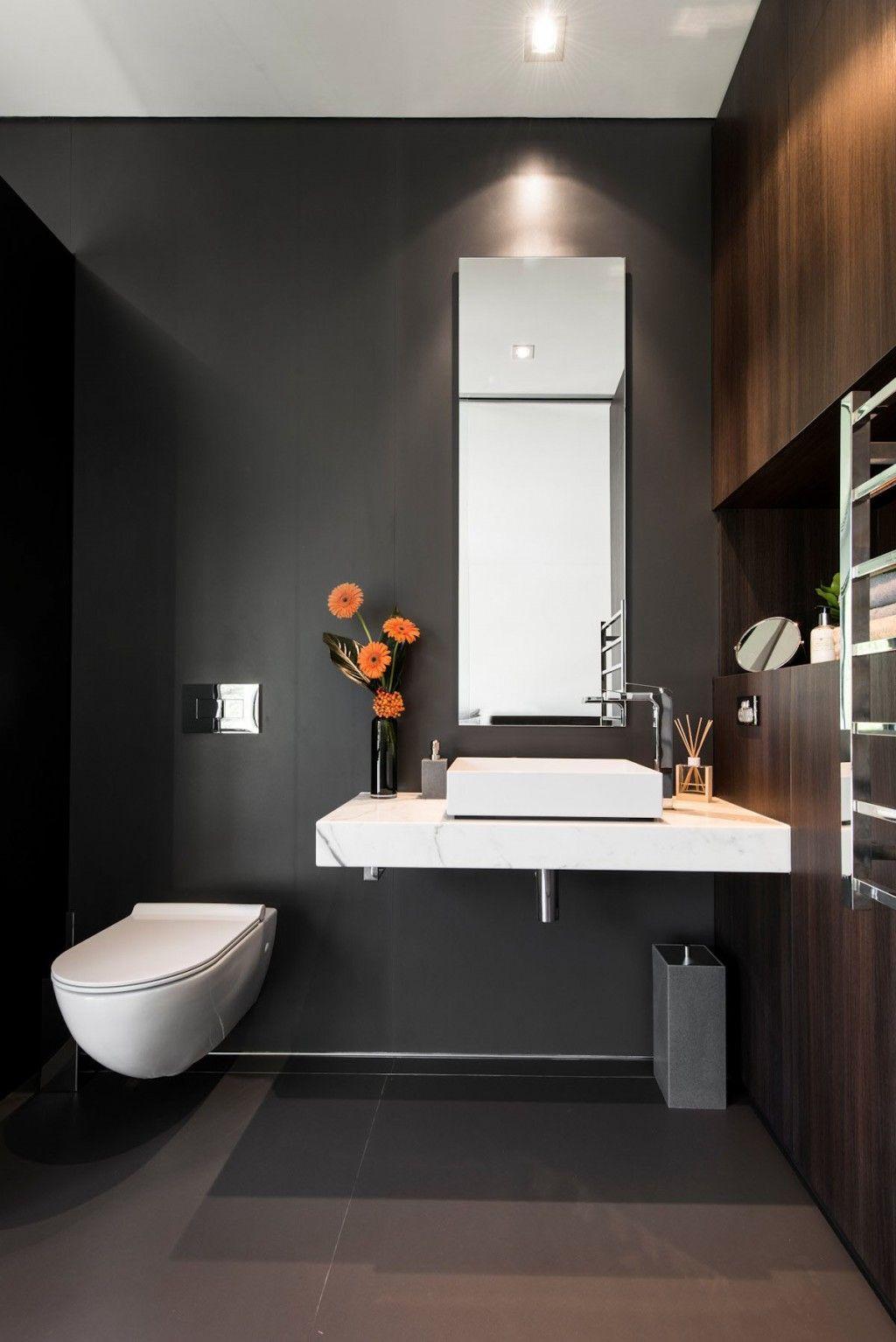 Architecture White Modern Toilet White Sink Bathroom