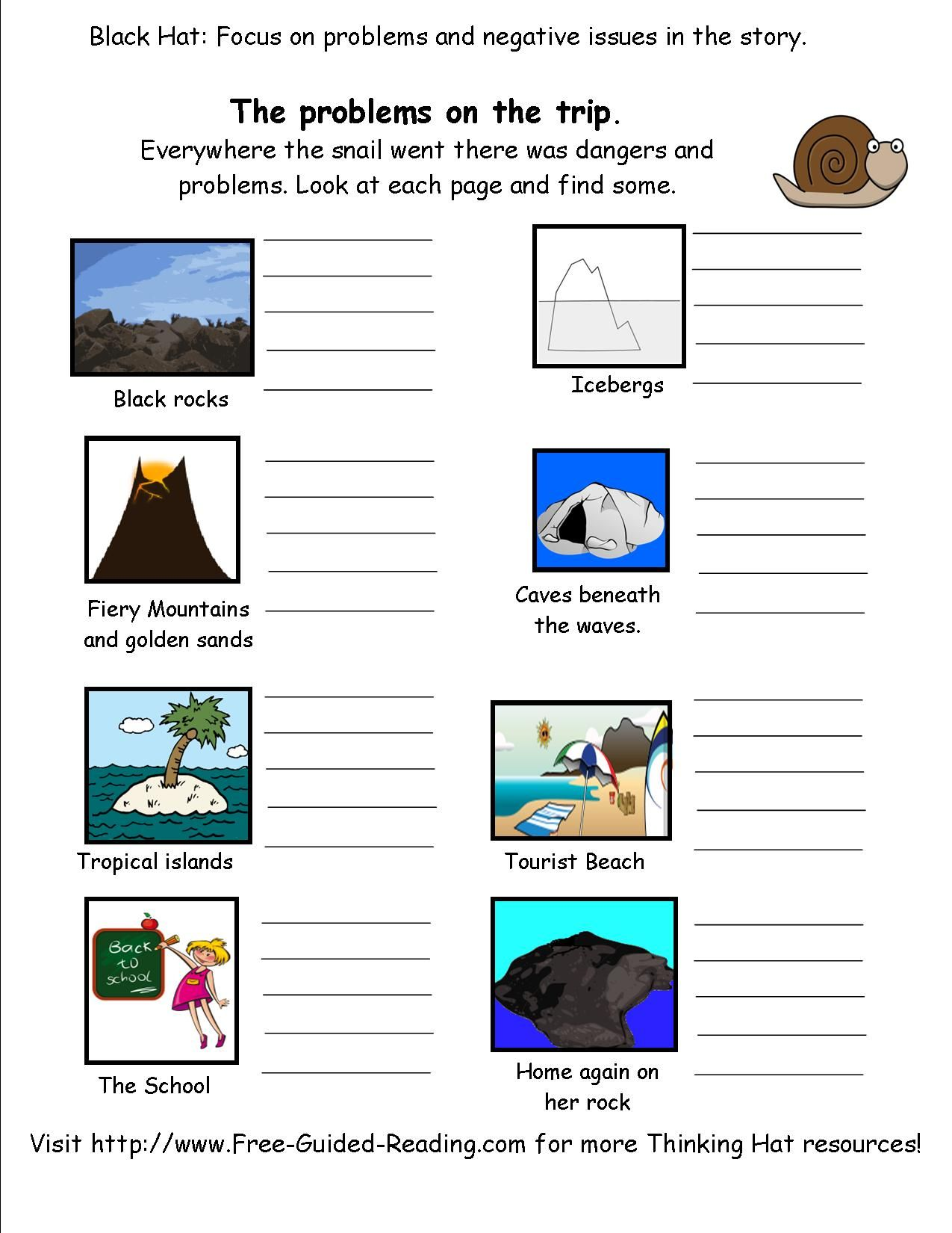 Snail And The Whale Story Activity Worksheets Free