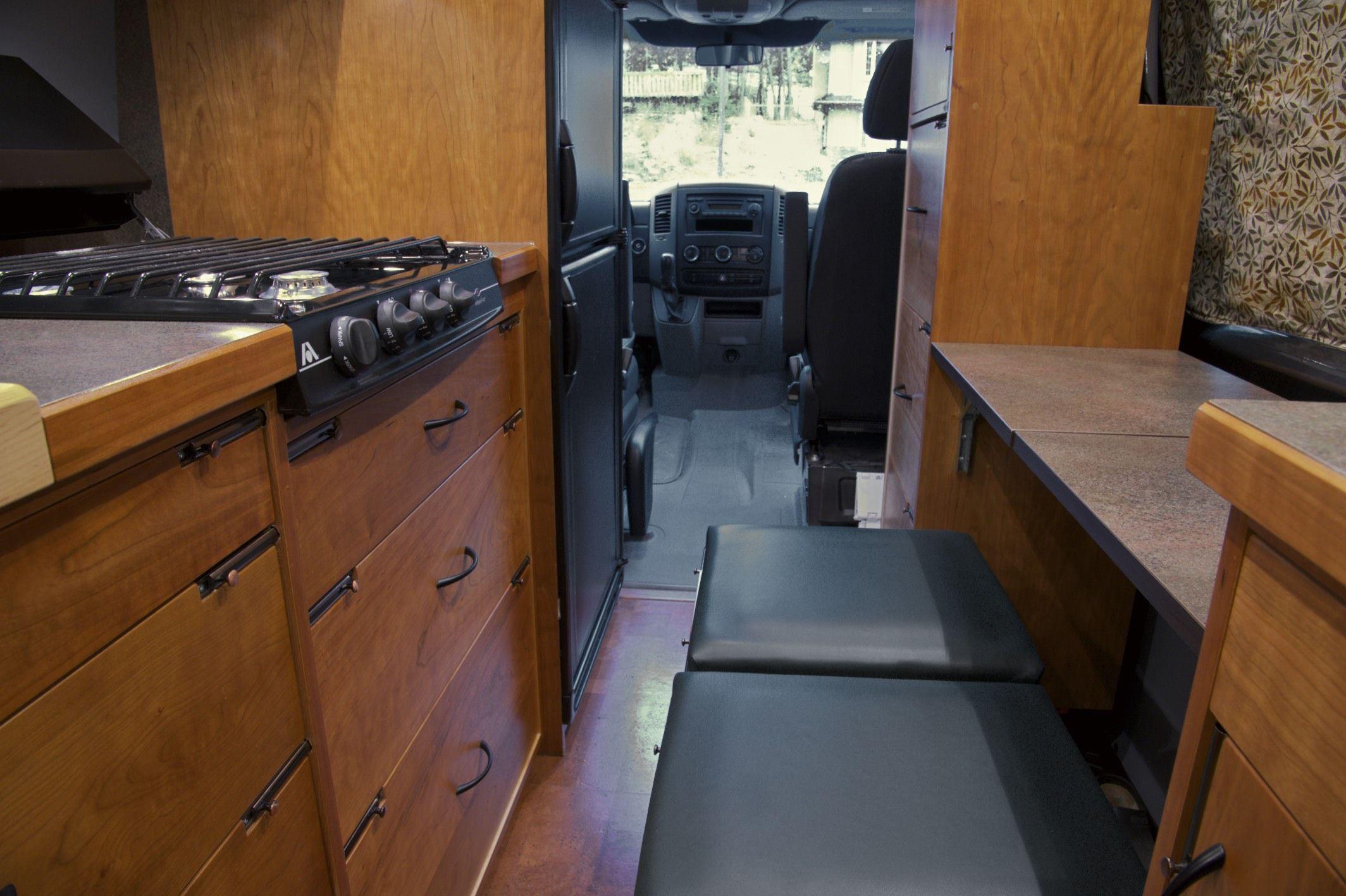 Sprinter RV conversion by Allen Sutter, looking towards