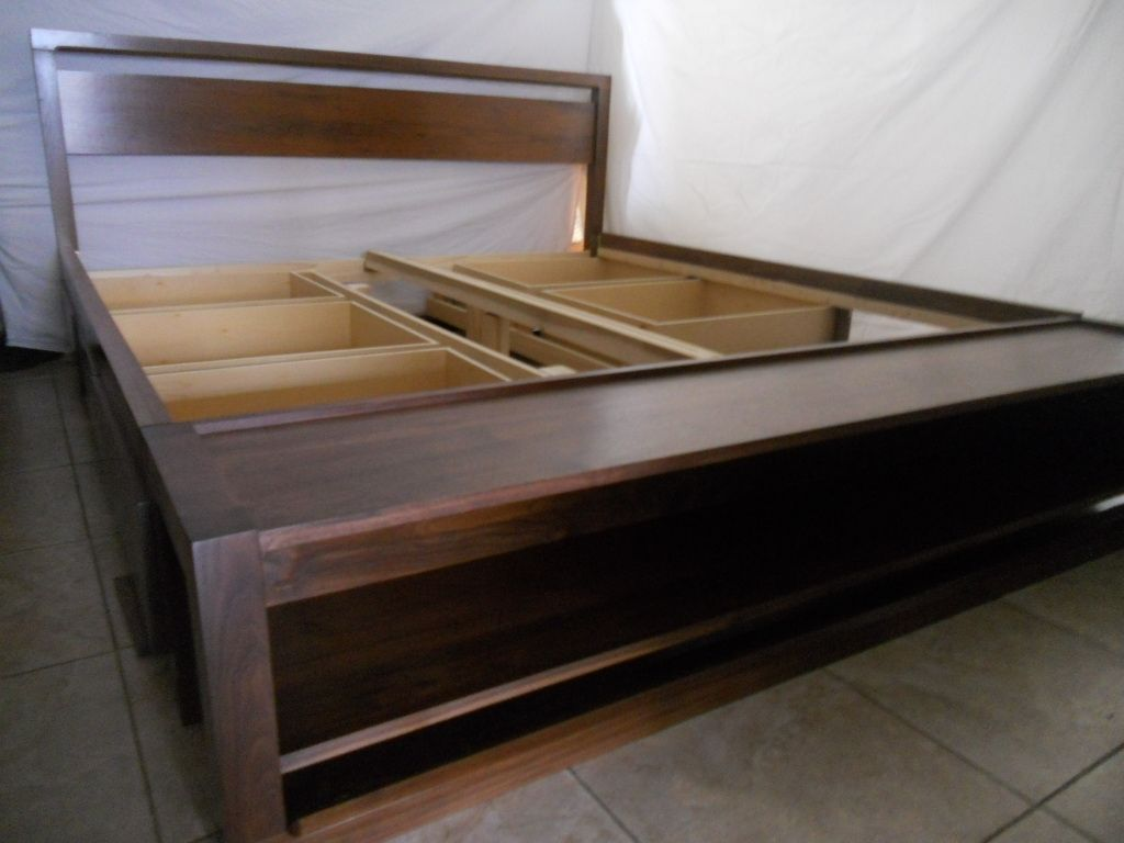 King Size Bed Frame With Drawers