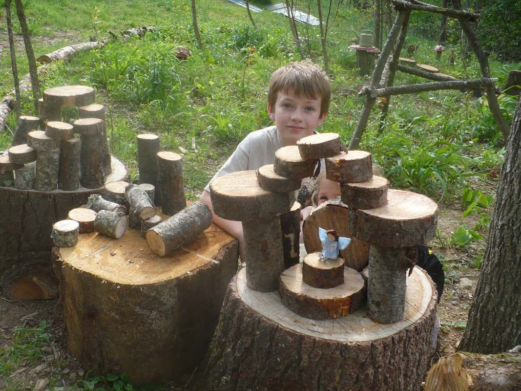 Natural Wood Blocks Cut From Downed Branches Trees Kids Have A Great Time Building Fairy