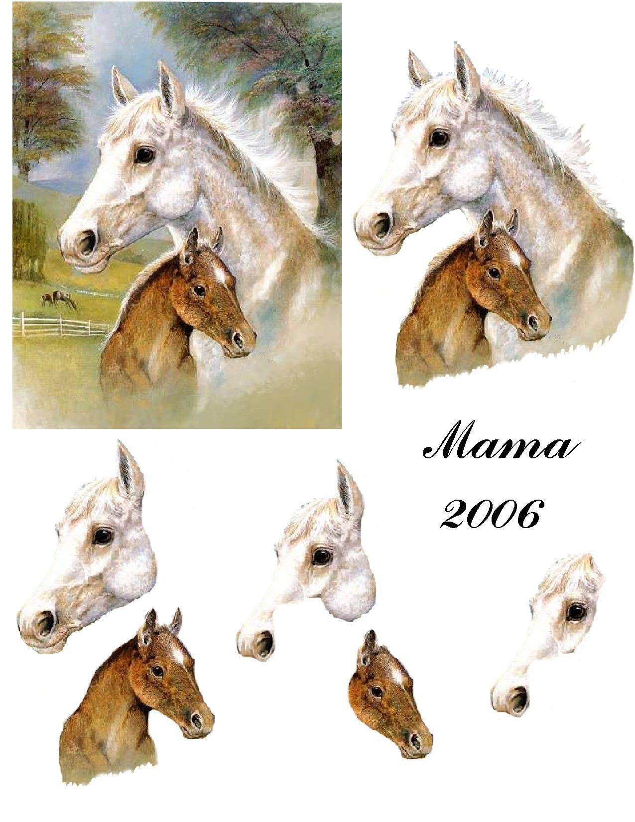 horses My 3D Decoupage ANIMALS Pinterest Horse