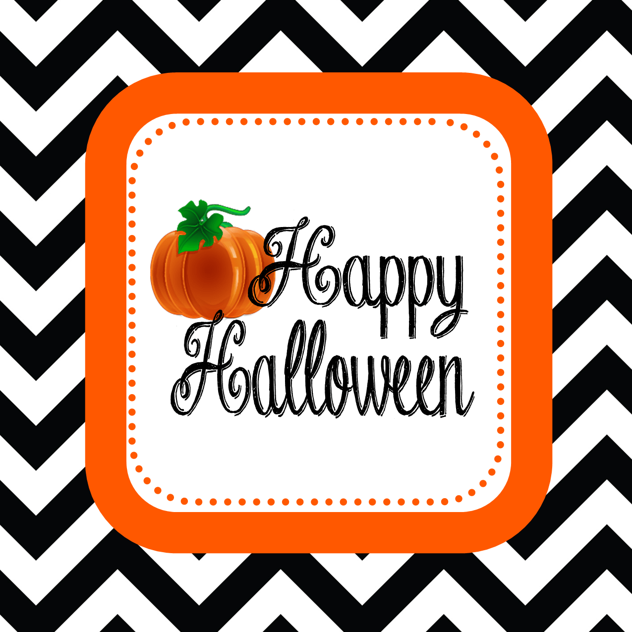 FREEBIE Chevron Halloween Favor Tag or Sign Download