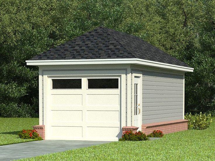OneCar Garage Plans SingleCar Garage Plan with Hip