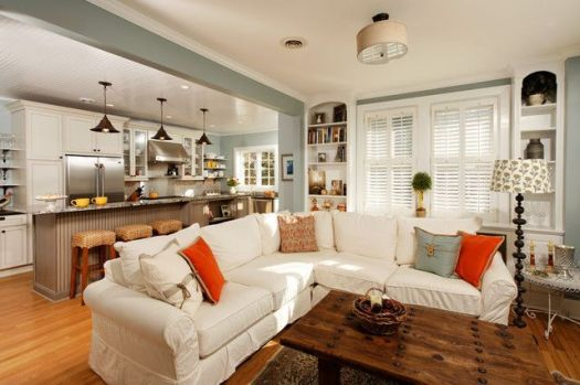 Living Room And Kitchen Decorating Ideas