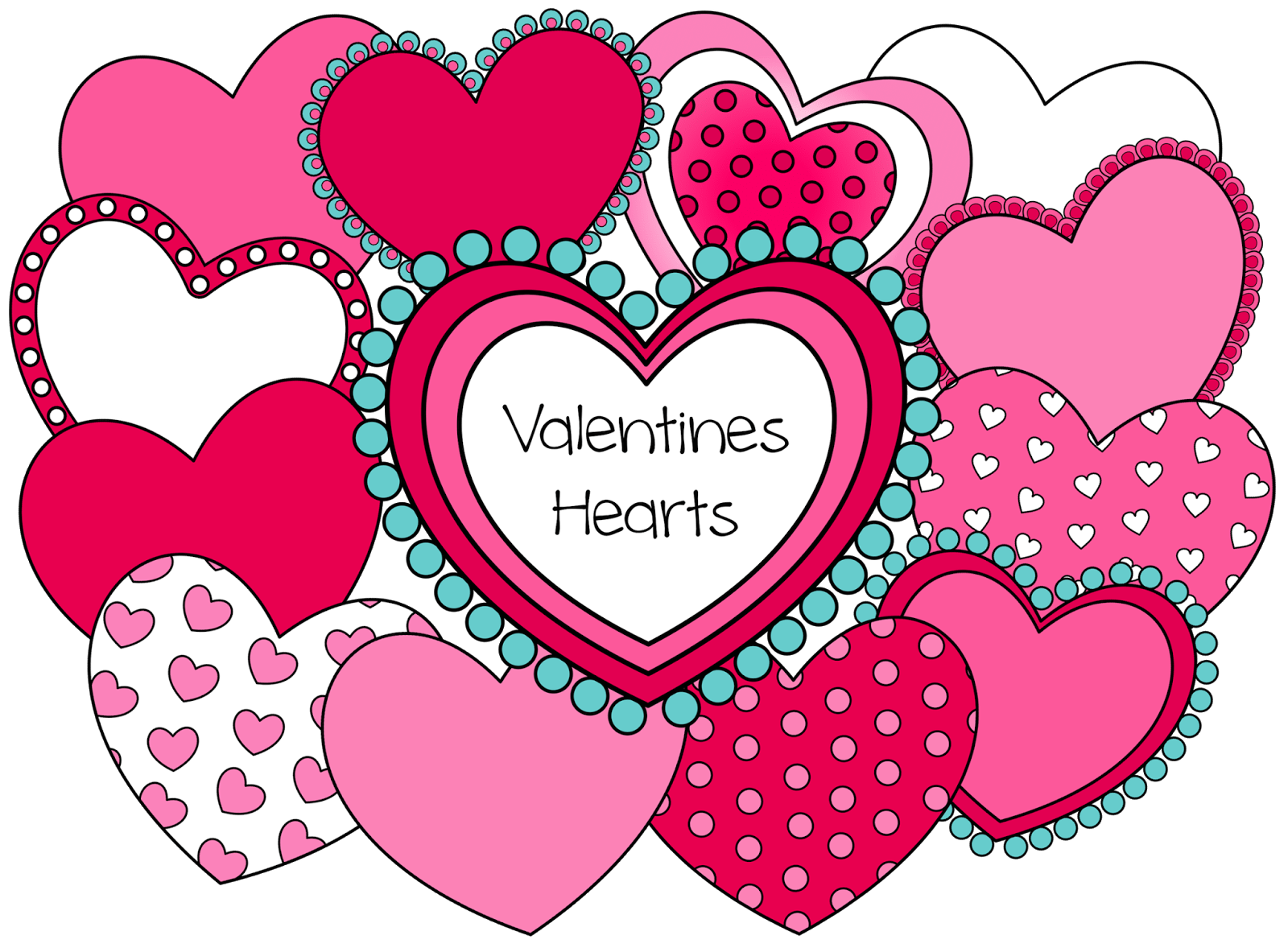 Valentine Hearts 12 Hearts You Can Resize And Layer In