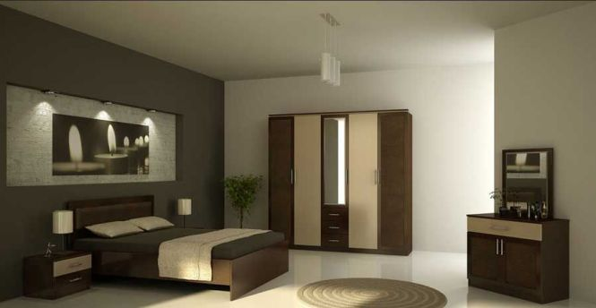 Master Bedroom Design For Simple Modern Interior With White And Grey Wall Paint Color