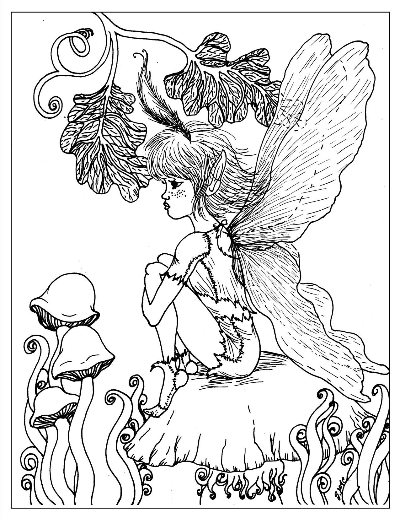 Fantasy Coloring Pages For Adults To Download And Print