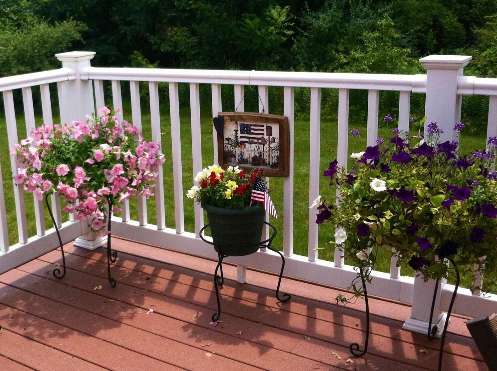 Country Cottage Deck decor Gardening Pinterest