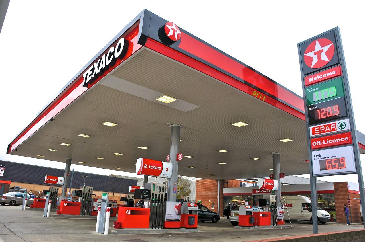 Generic Forecourt from Texaco. Gas Station Pinterest