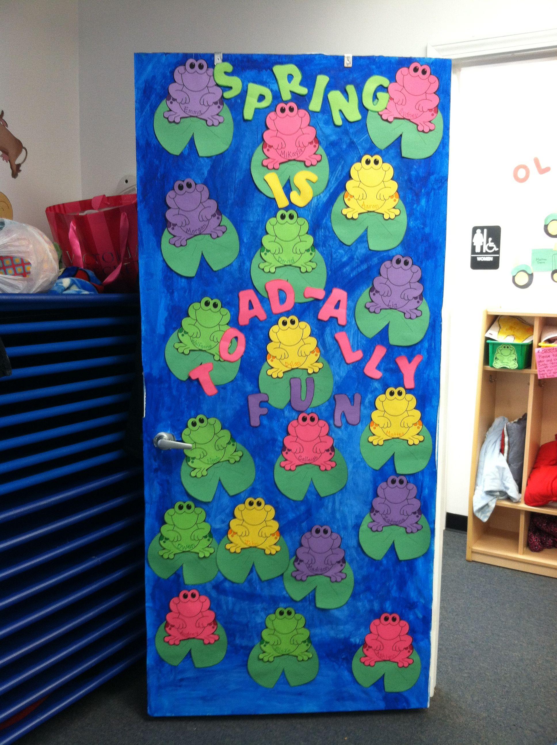 Spring Pre School Door