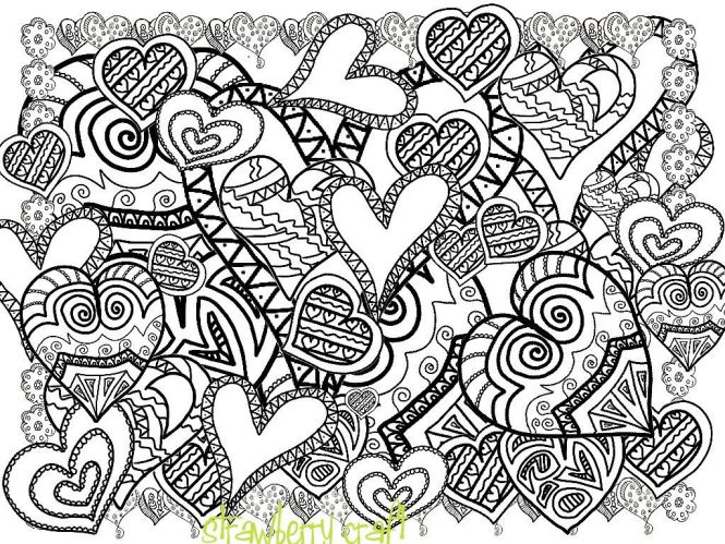 Abstract Doodle Art Coloring Pages Panda