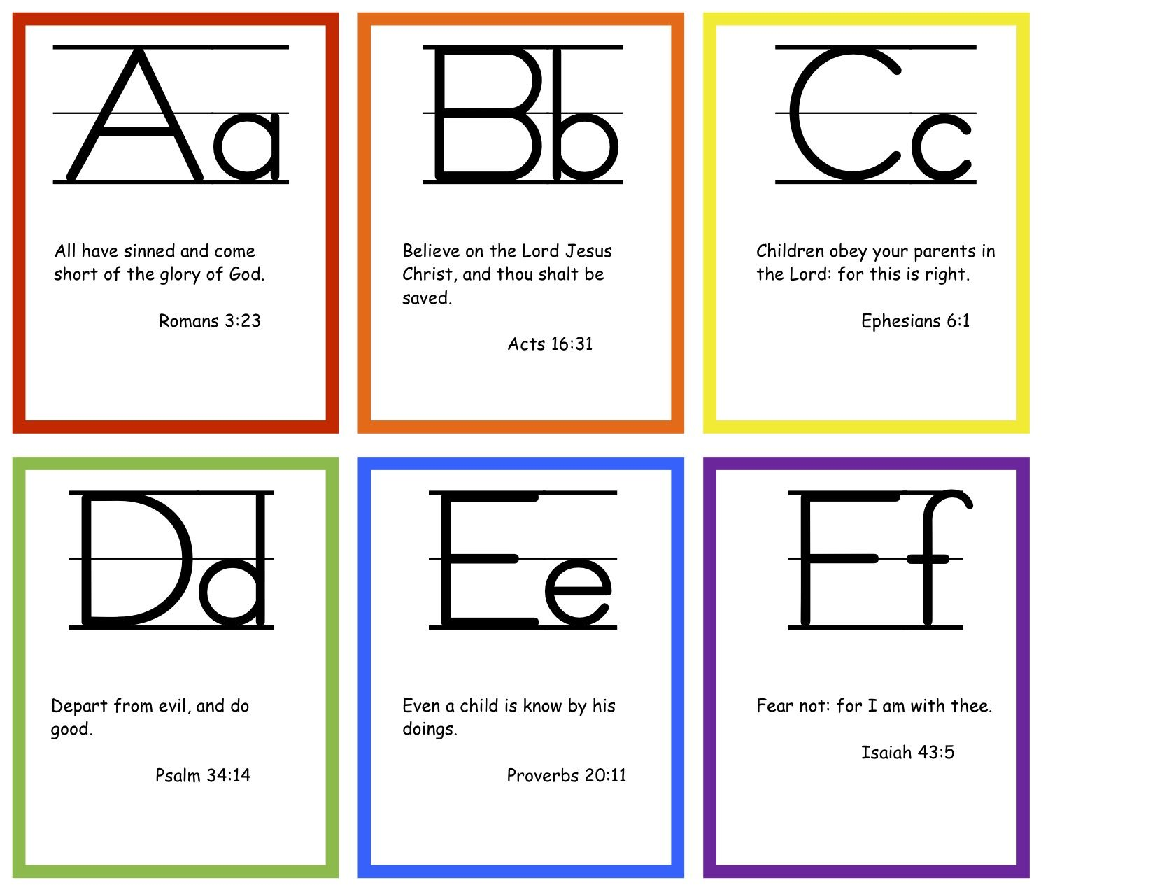 Abc Bible Verses Flashcards Free Printable